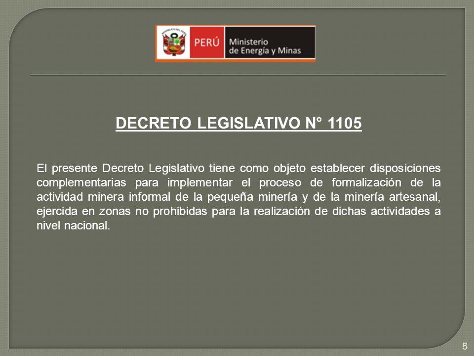 DECRETO LEGISLATIVO N° 1105