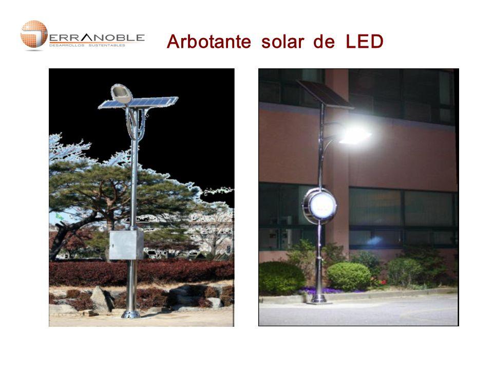 Arbotante solar de LED