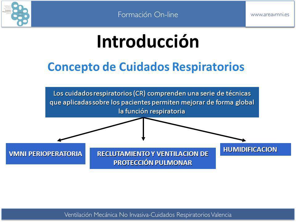 Concepto de Cuidados Respiratorios