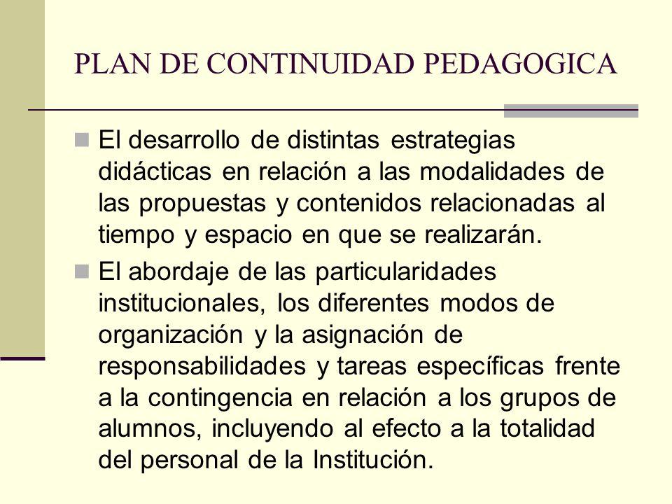 PLAN DE CONTINUIDAD PEDAGOGICA