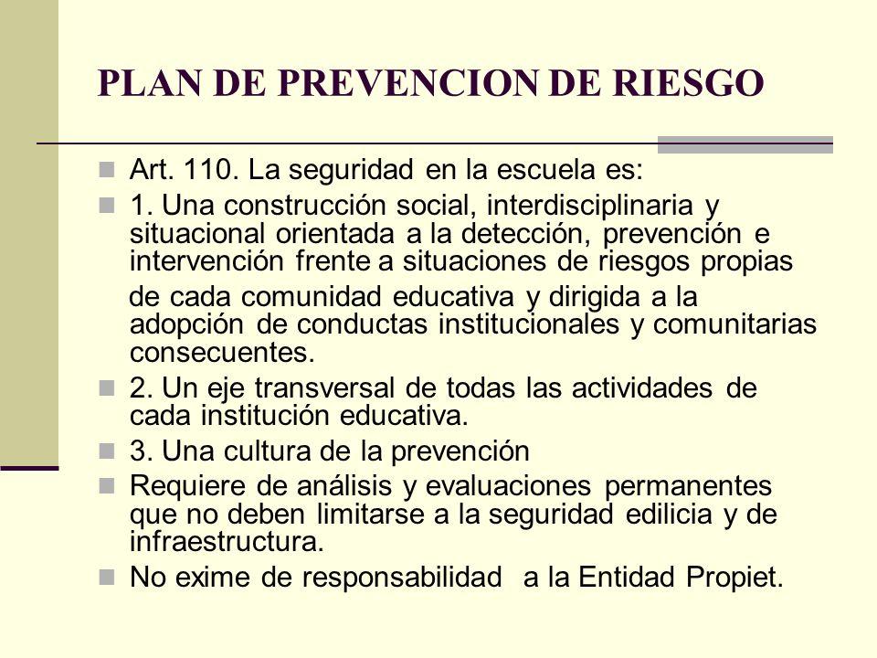 PLAN DE PREVENCION DE RIESGO