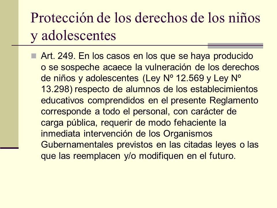 Protección de los derechos de los niños y adolescentes