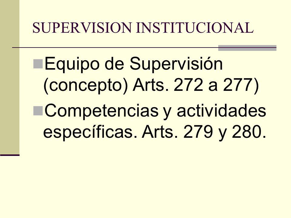 SUPERVISION INSTITUCIONAL