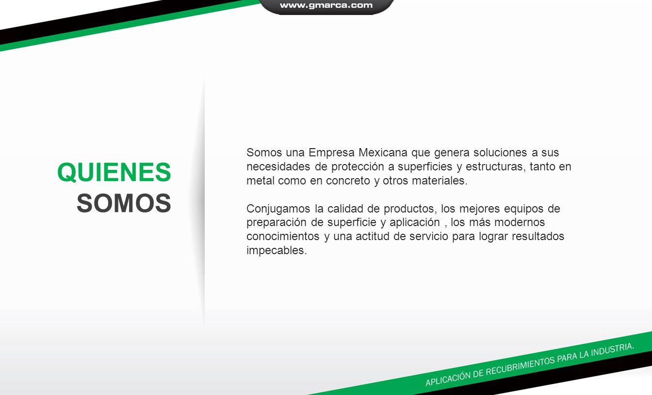 Somos una Empresa Mexicana que genera soluciones a sus necesidades de protección a superficies y estructuras, tanto en metal como en concreto y otros materiales.