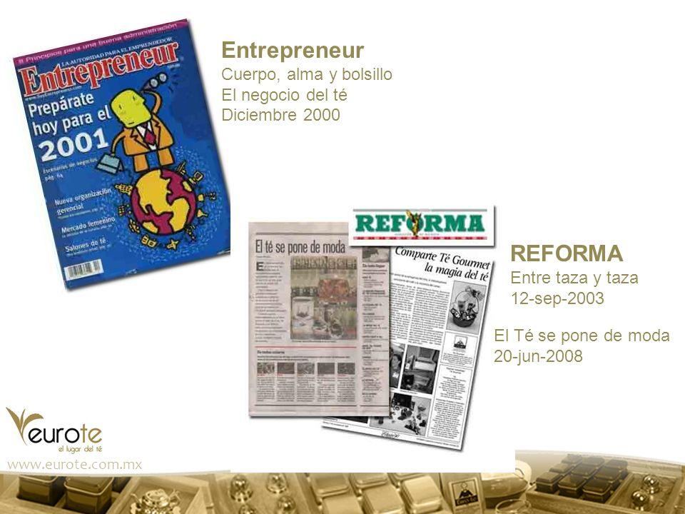Entrepreneur REFORMA Cuerpo, alma y bolsillo El negocio del té