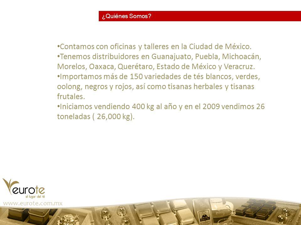 Contamos con oficinas y talleres en la Ciudad de México.