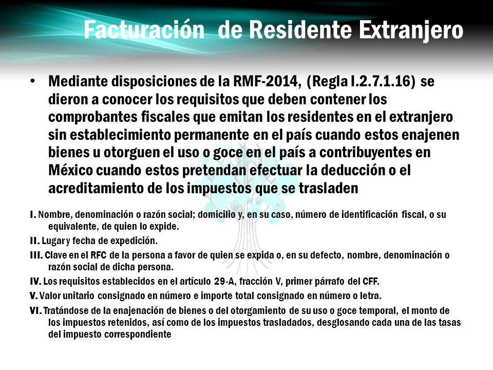 Facturación de Residente Extranjero