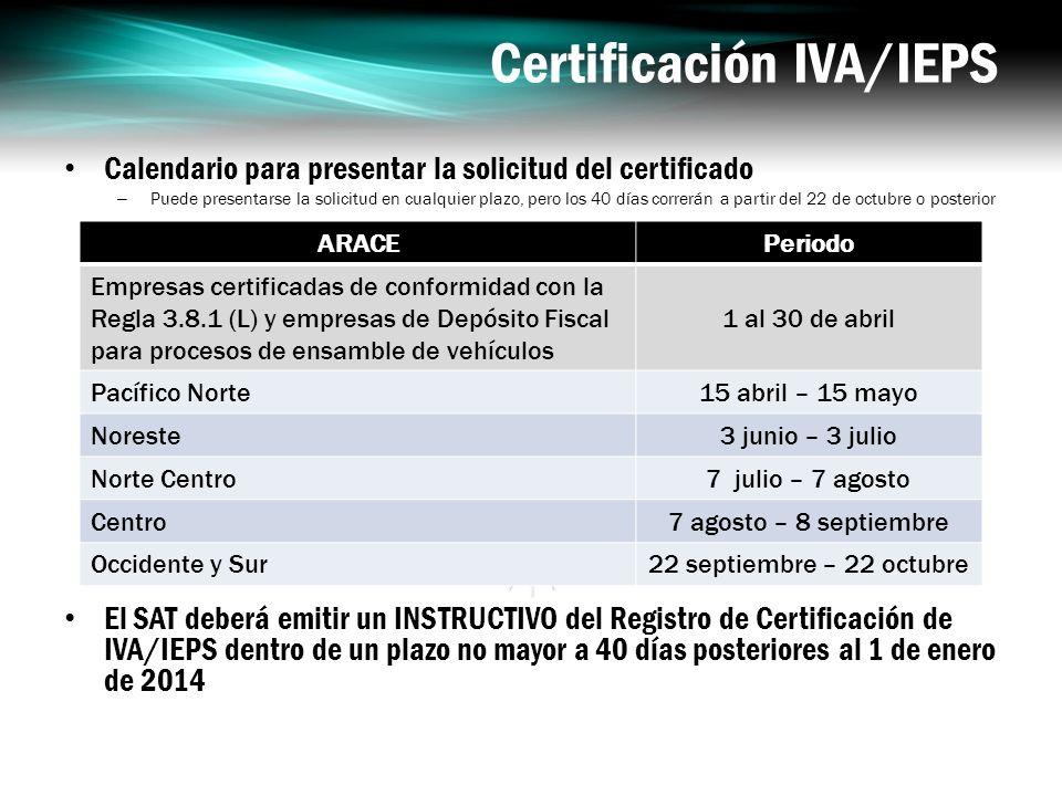 Certificación IVA/IEPS