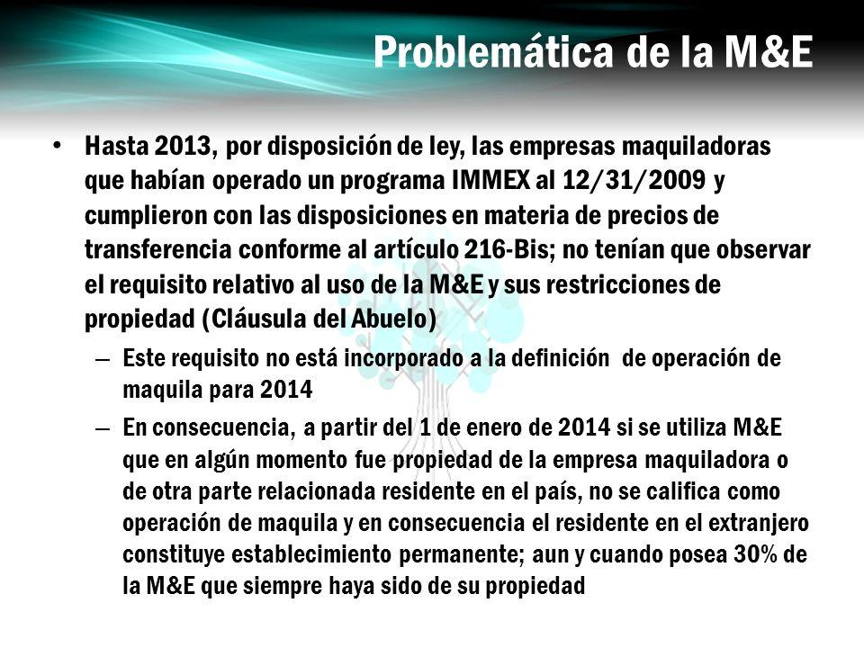 Problemática de la M&E