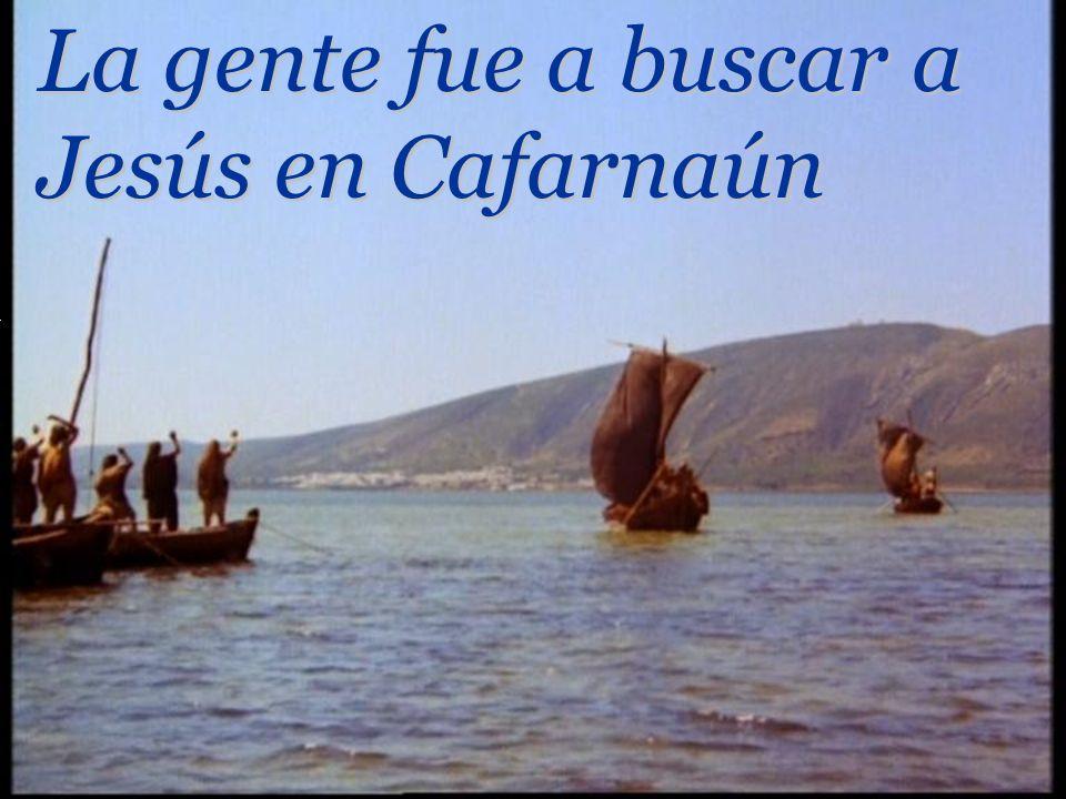 La gente fue a buscar a Jesús en Cafarnaún