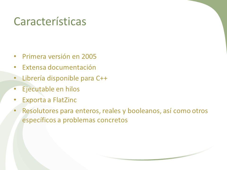 Características Primera versión en 2005 Extensa documentación