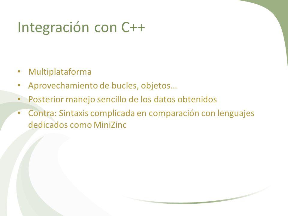 Integración con C++ Multiplataforma