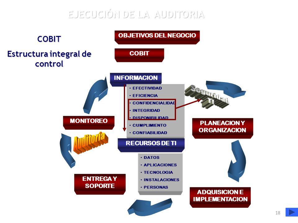 Seguridad TI EJECUCIÓN DE LA AUDITORIA COBIT