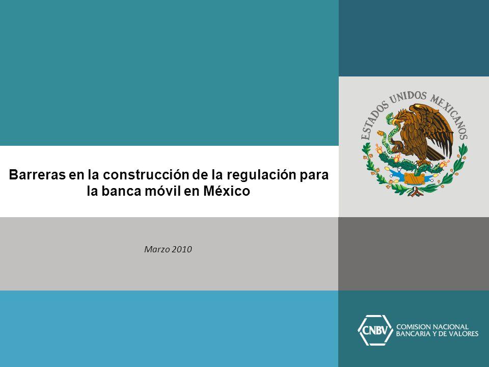 Barreras en la construcción de la regulación para la banca móvil en México