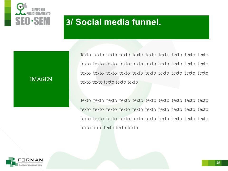 3/ Social media funnel. IMAGEN