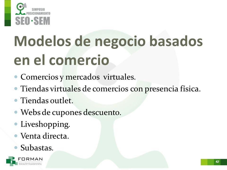 Modelos de negocio basados en el comercio