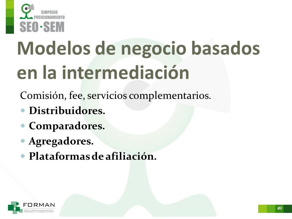 Modelos de negocio basados en la intermediación