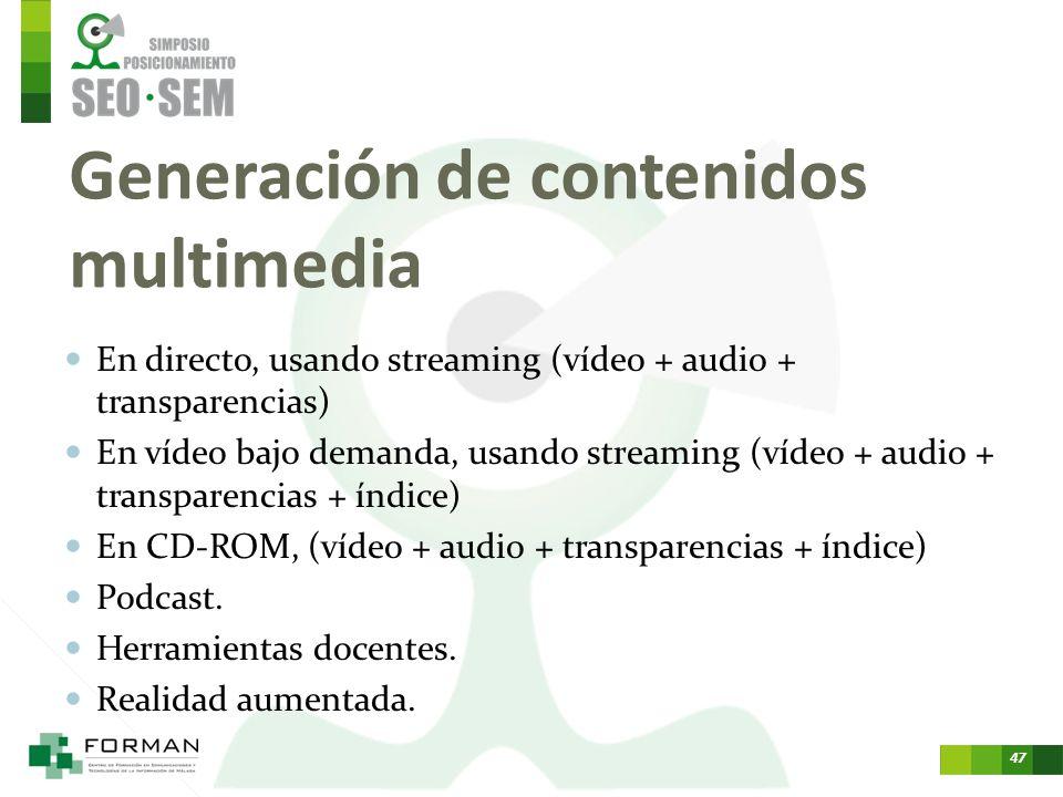Generación de contenidos multimedia
