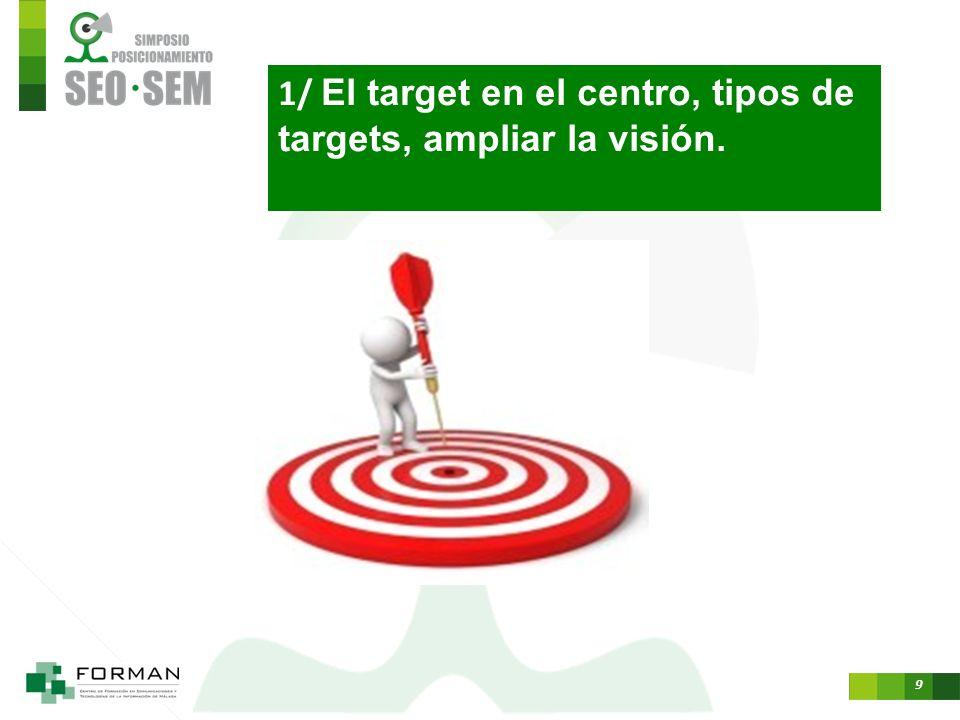 1/ El target en el centro, tipos de targets, ampliar la visión.