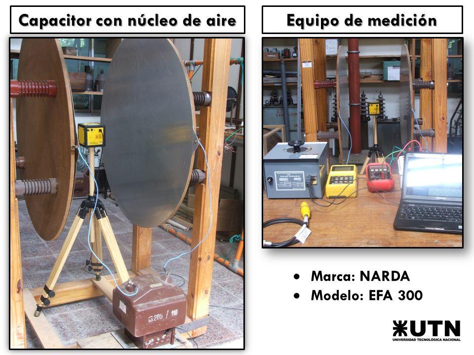 Capacitor con núcleo de aire
