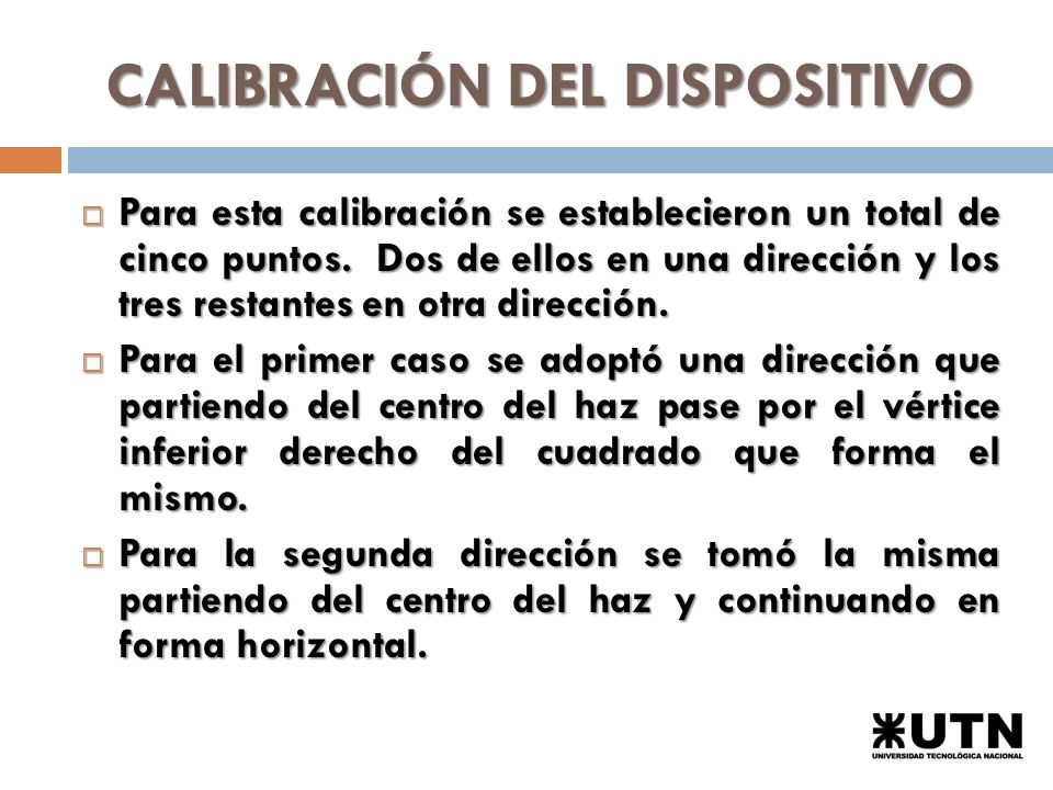 CALIBRACIÓN DEL DISPOSITIVO