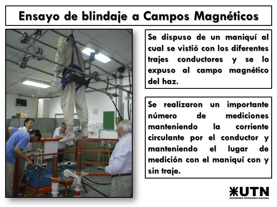 Ensayo de blindaje a Campos Magnéticos
