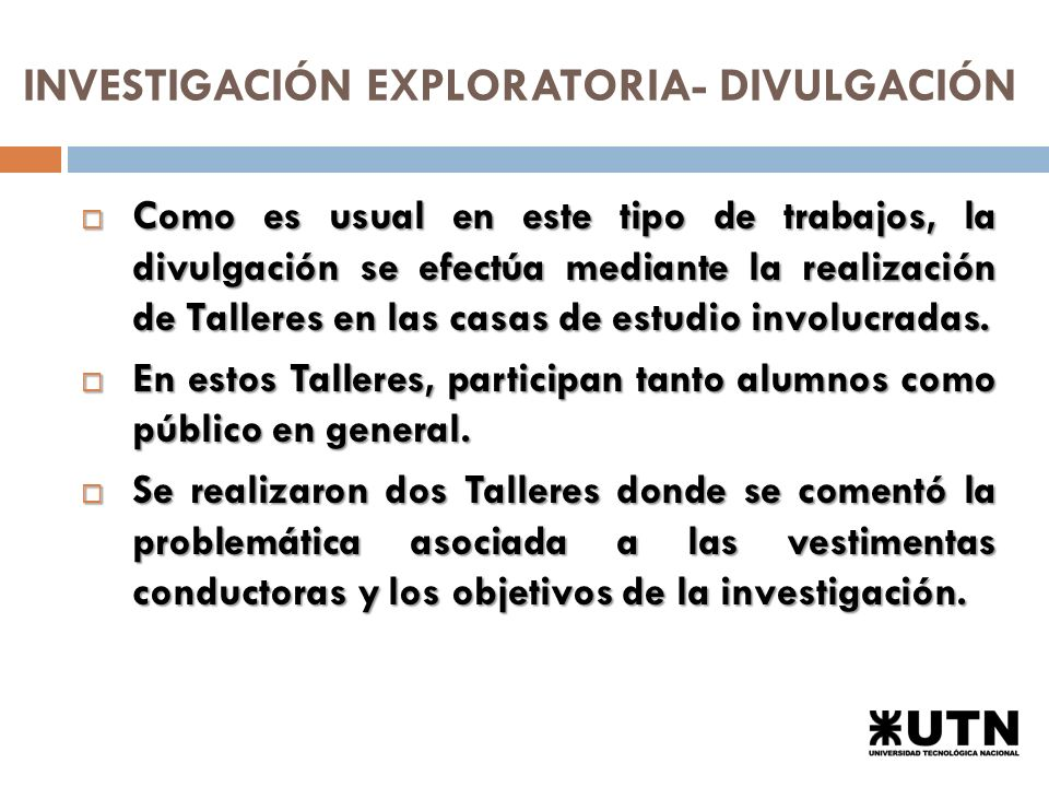 INVESTIGACIÓN EXPLORATORIA- DIVULGACIÓN