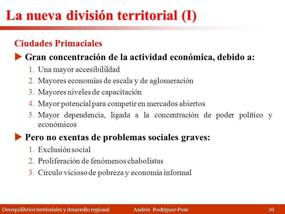 La nueva división territorial (I)