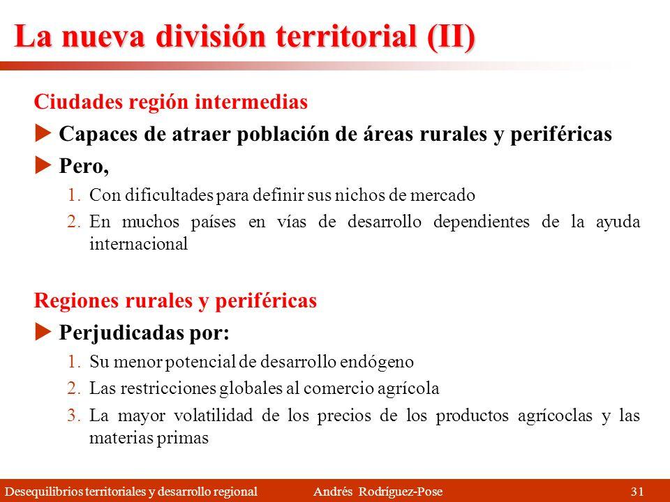 La nueva división territorial (II)