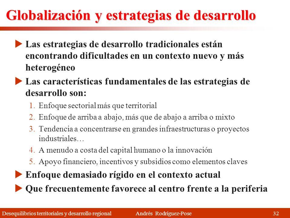 Globalización y estrategias de desarrollo