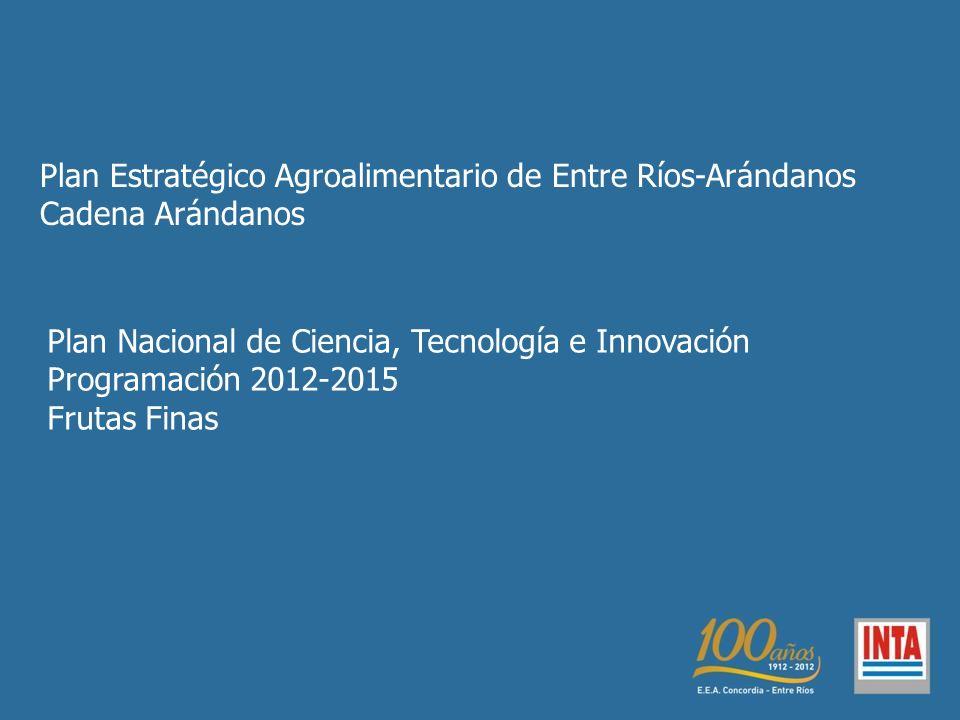 Plan Estratégico Agroalimentario de Entre Ríos-Arándanos