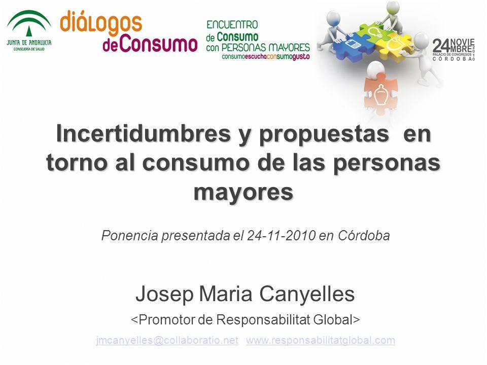 Incertidumbres y propuestas en torno al consumo de las personas mayores