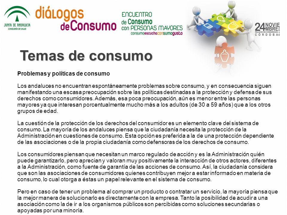 Temas de consumo Problemas y políticas de consumo