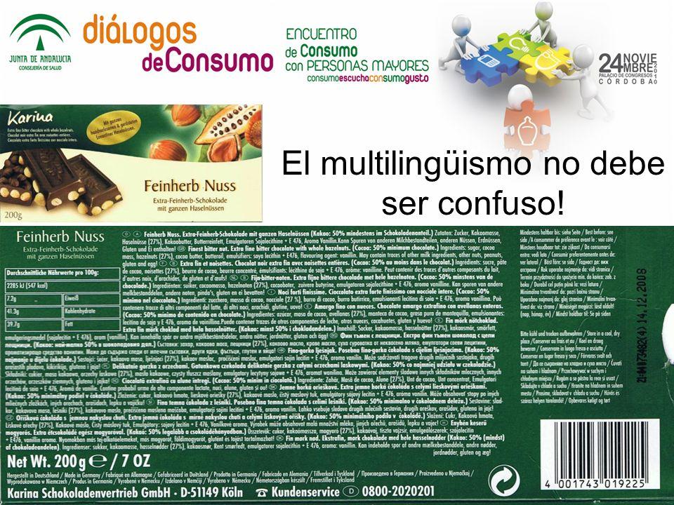 El multilingüismo no debe ser confuso!
