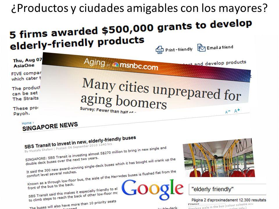 ¿Productos y ciudades amigables con los mayores