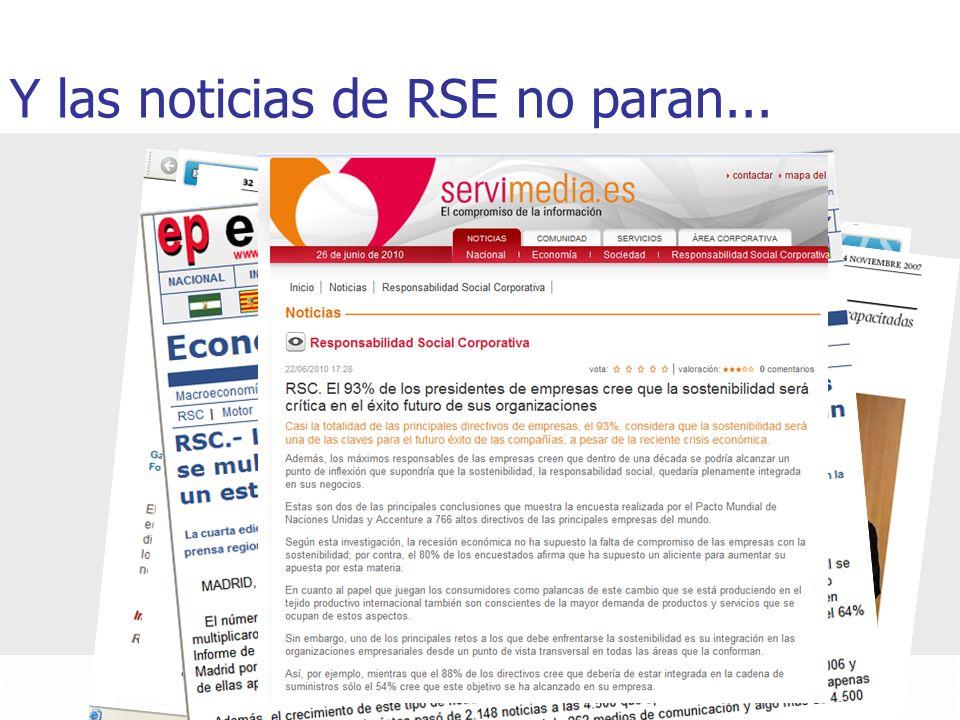 Y las noticias de RSE no paran...