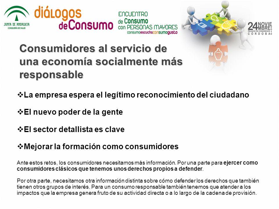 Consumidores al servicio de una economía socialmente más responsable