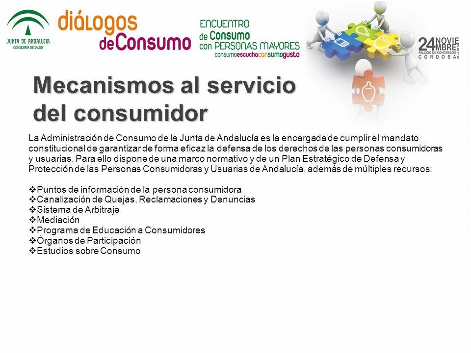 Mecanismos al servicio del consumidor