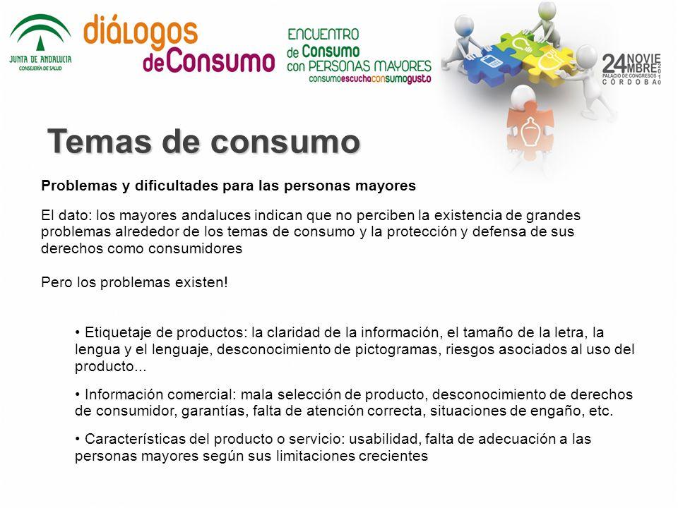 Temas de consumo Problemas y dificultades para las personas mayores