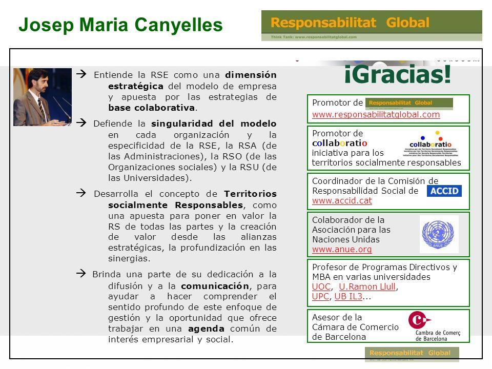 ¡Gracias! Josep Maria Canyelles