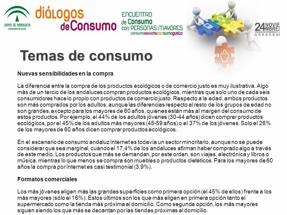 Temas de consumo Nuevas sensibilidades en la compra