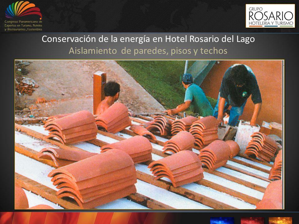 Conservación de la energía en Hotel Rosario del Lago Aislamiento de paredes, pisos y techos