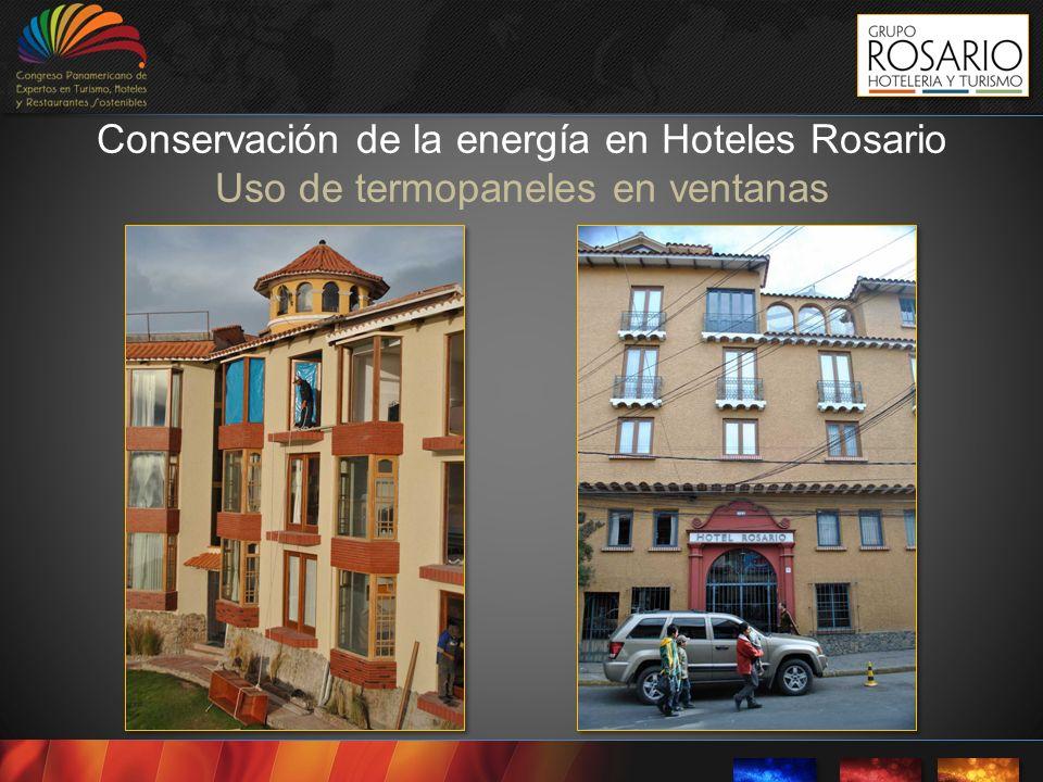 Conservación de la energía en Hoteles Rosario