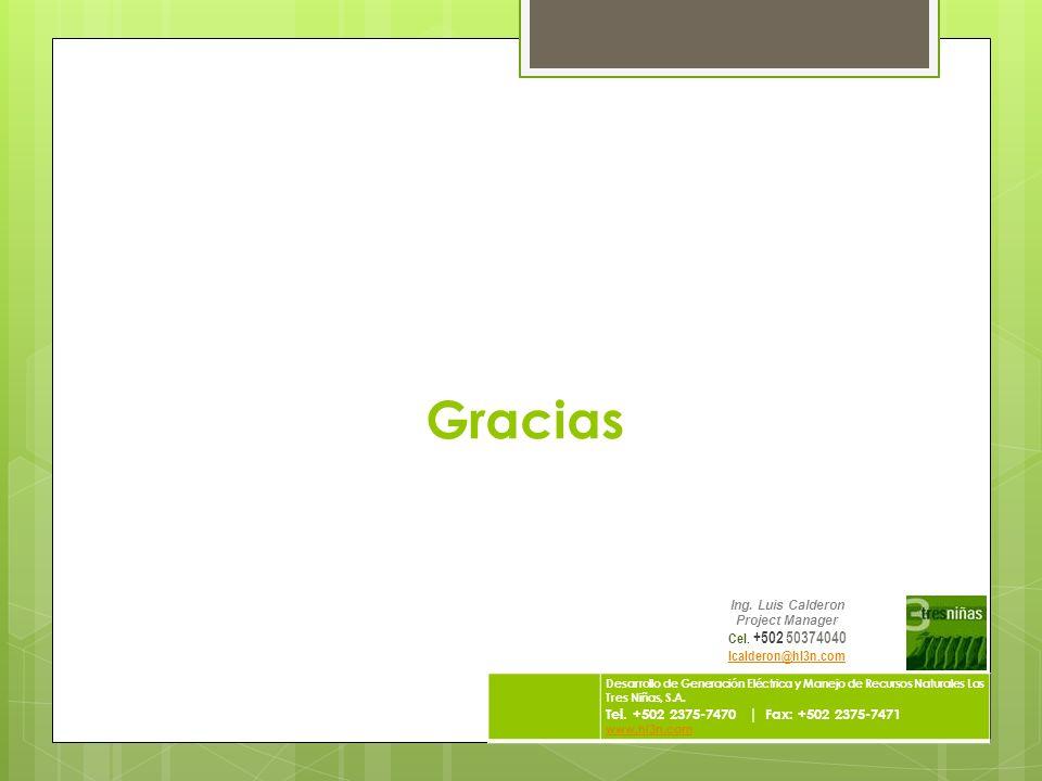 Gracias Tel. +502 2375-7470 | Fax: +502 2375-7471 Cel. +502 50374040