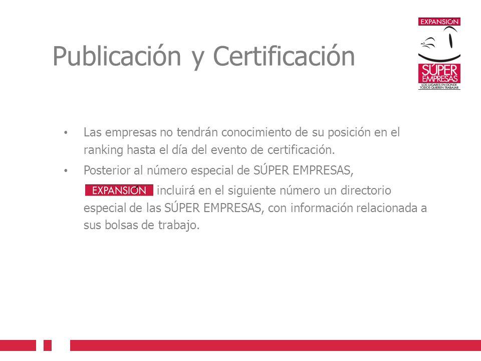Publicación y Certificación