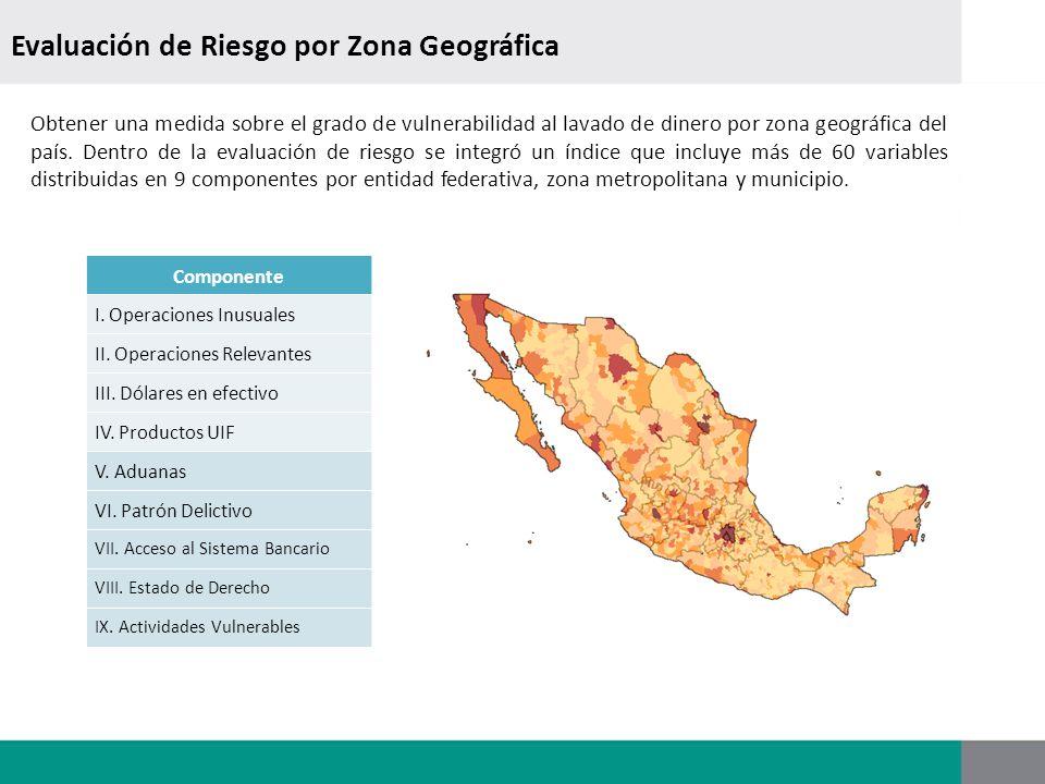 Evaluación de Riesgo por Zona Geográfica