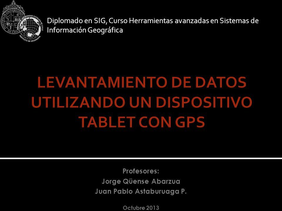 LEVANTAMIENTO DE DATOS UTILIZANDO UN DISPOSITIVO TABLET CON GPS
