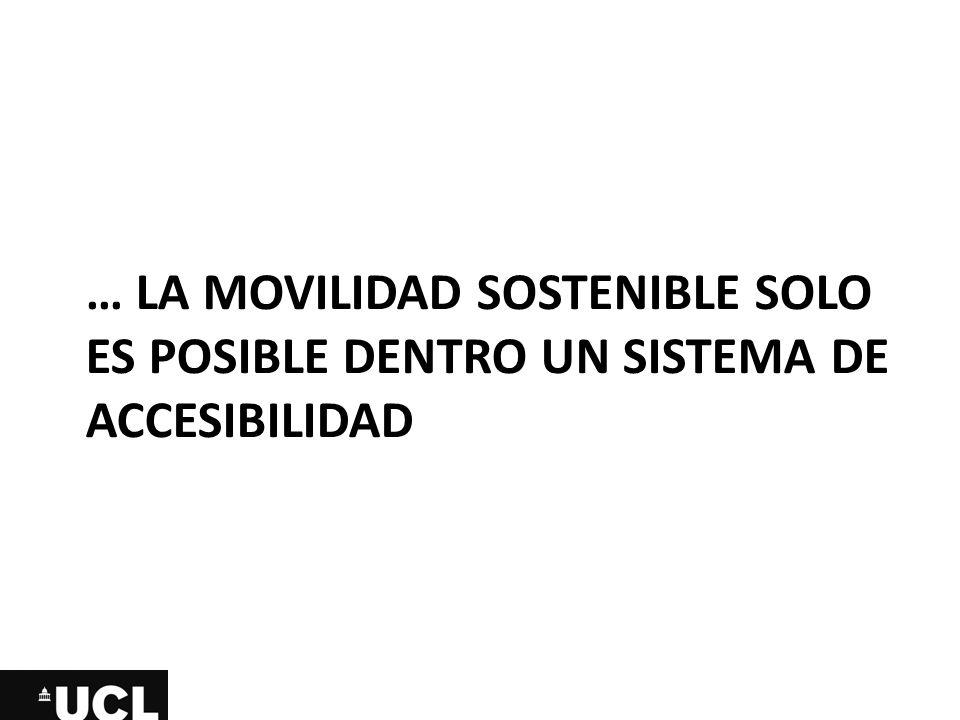… la movilidad sostenible solo es posible dentro un sistema de accesibilidad