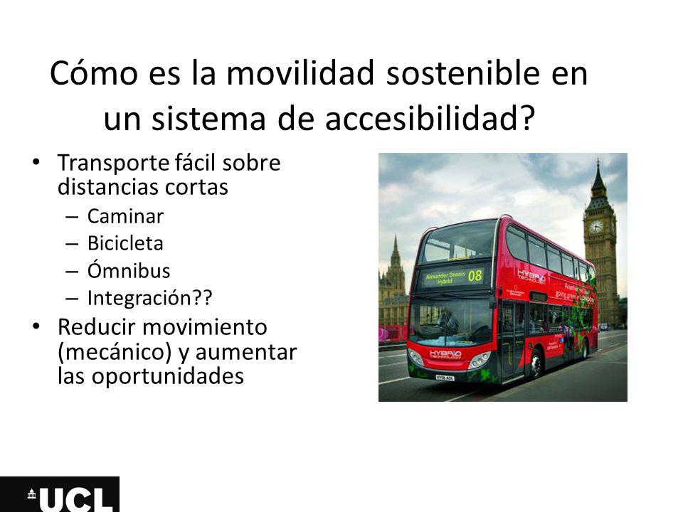 Cómo es la movilidad sostenible en un sistema de accesibilidad