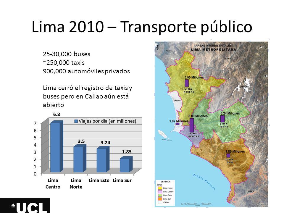 Lima 2010 – Transporte público